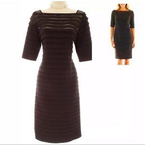 14 Large XL▪️BLACK ILLUSION SHUTTER PLEAT DRESS